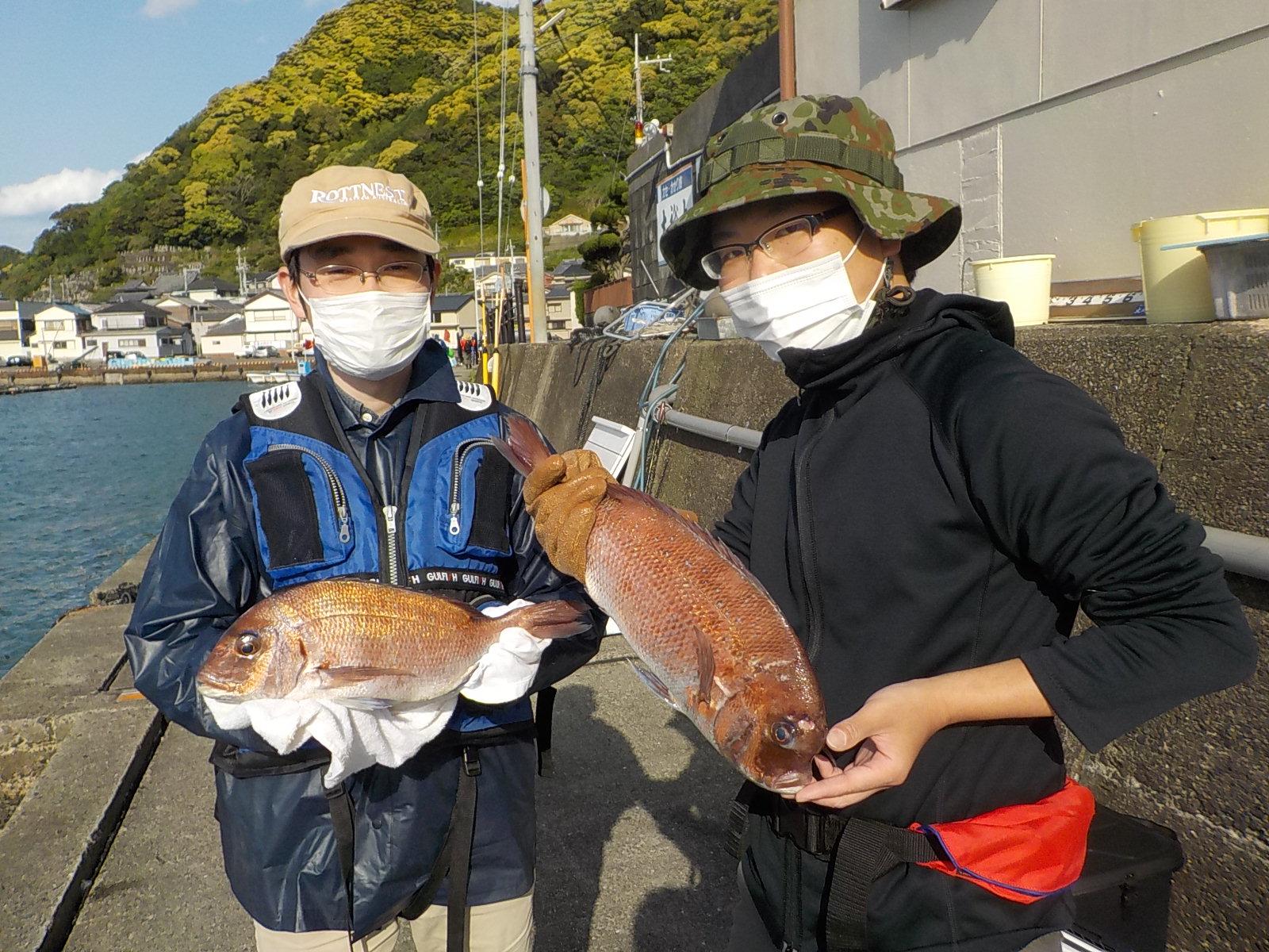 奈良の向山様 マダイ40~45センチ 3尾