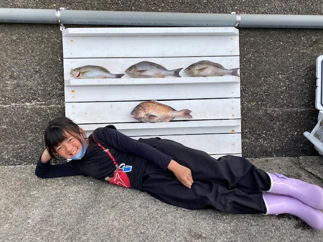 大阪の鮫島つーちゃん ジャンボイサキ マダイ